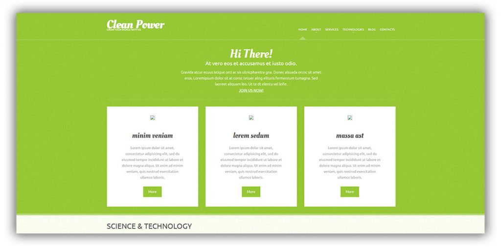 cleanpower-wordpress-theme