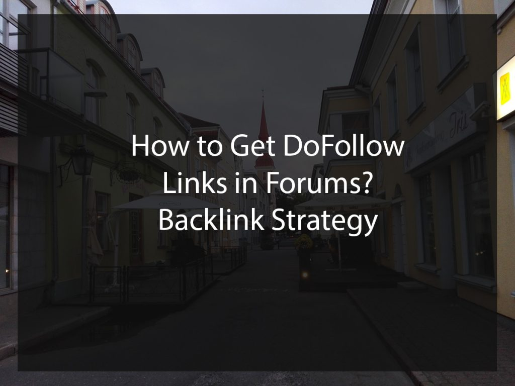 dofollow links on forums